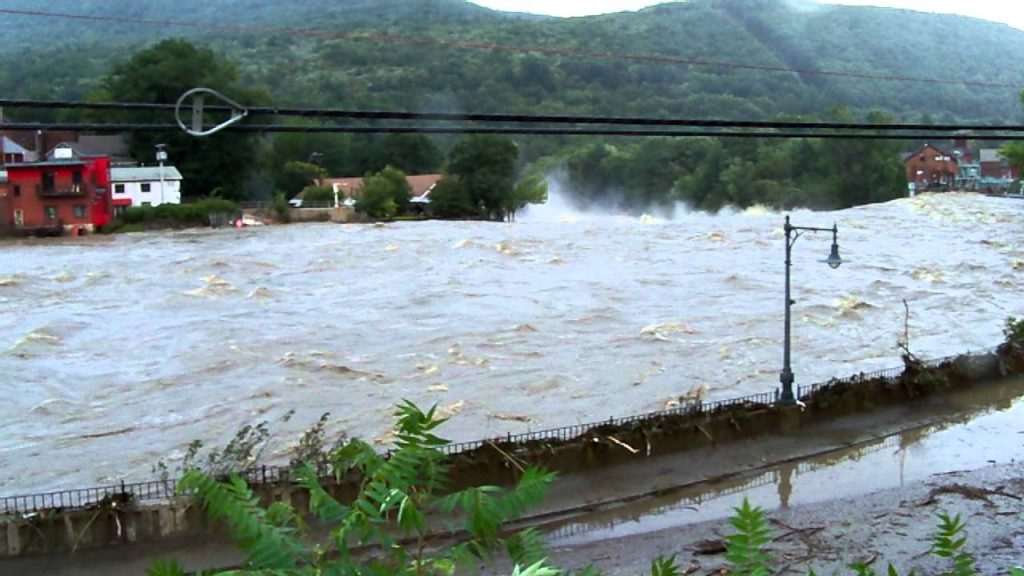 2011 Hurricane Irene flood, Deerfield River in Shelburne Falls, MA